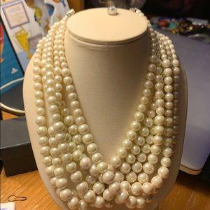 Lia Sophia 6 Strand Pearls